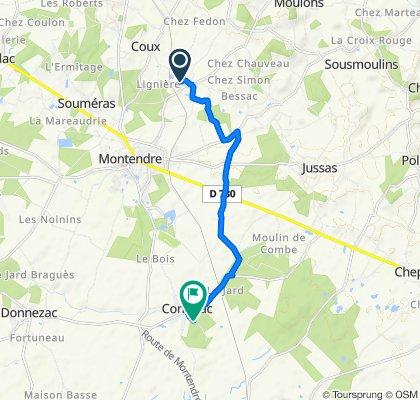 De 13 Rue du Clos de la Mauve, Montendre à 1 Route du Grand Potet, Corignac