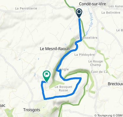 Itinéraire vers 12 La Roque Plate, Le Mesnil-Raoult