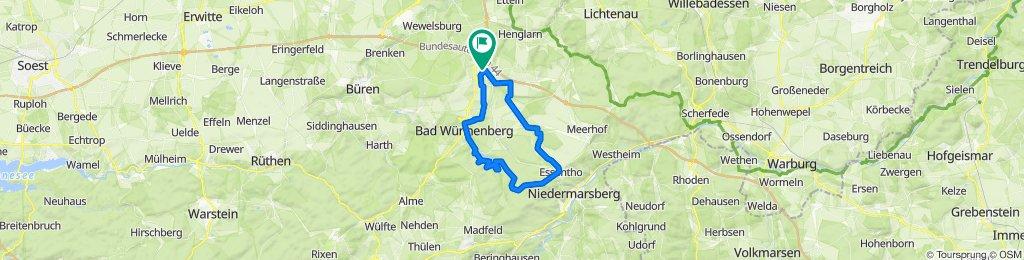 Kirchweg 16, Bad Wünnenberg nach Dr.-Ricken-Straße 9, Bad Wünnenberg