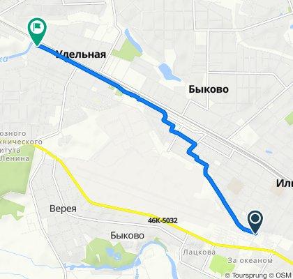 От Театральная улица, 1с1, Жуковский до Южный проспект, 48, Удельная