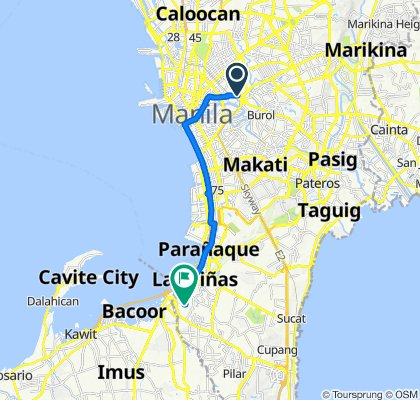 Old Santa Mesa Street, Manila to 9 Veraville Avenue, Las Piñas City