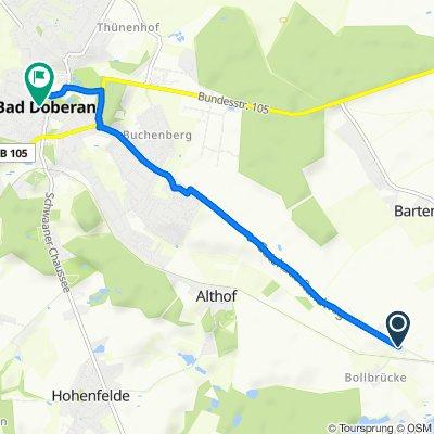 Doberaner Straße 55, Bartenshagen-Parkentin nach Am Kamp 7–14, Bad Doberan