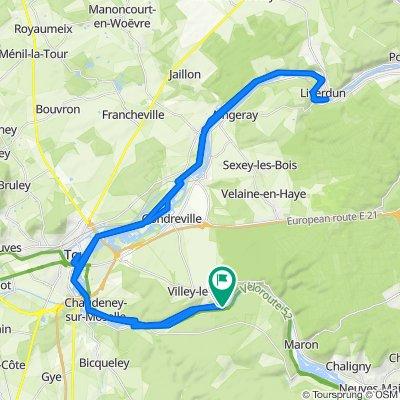 Supersonic route in Villey-le-Sec