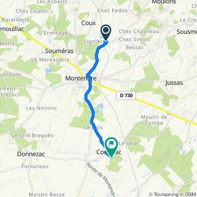 De 10 Rue du Clos de la Mauve, Montendre à 1 Route du Grand Potet, Corignac
