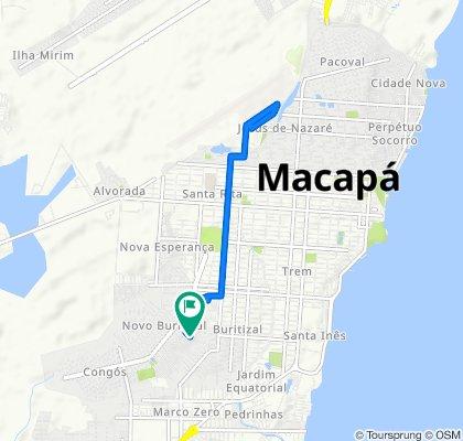Avenida Dezoito de Julho, 250–482, Macapá to Avenida Dezoito de Julho Cj H Laurindo Ban, 282, Macapá