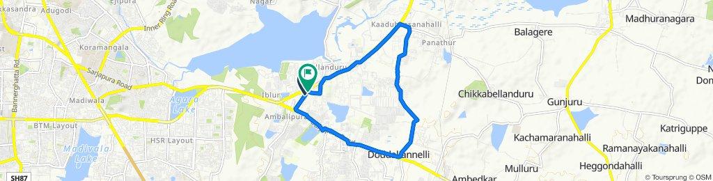 Bellandur Main Road, Bengaluru to Bellandur Main Road 79/5, Bengaluru