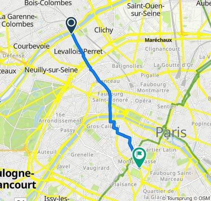 53 Quai Charles Pasqua, Levallois-Perret to 217 Boulevard Raspail, Paris