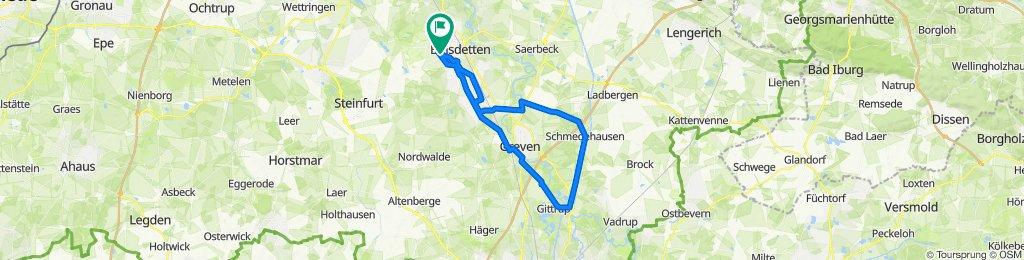Kanalweg 24, Emsdetten nach Hermelingskamp 7, Emsdetten
