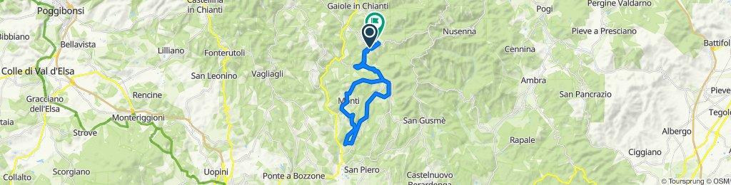 Da SP77, Gaiole in Chianti a Via del Castello 13, Gaiole in Chianti