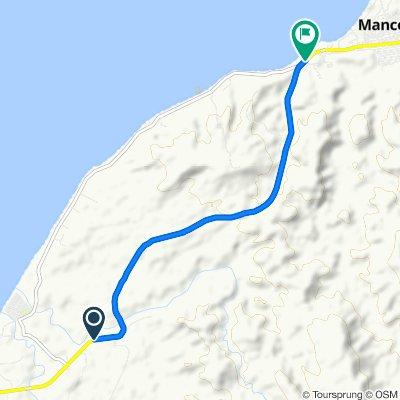 De Carretera Panamericana Norte a Auxiliar Panamericana Norte 1200, Máncora