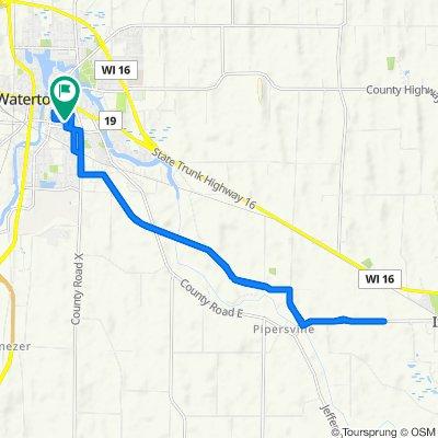 Restful route in Watertown