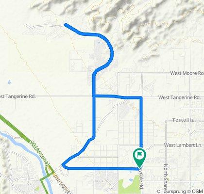 9665 N Thornydale Rd, Tucson to 9665 N Thornydale Rd, Tucson