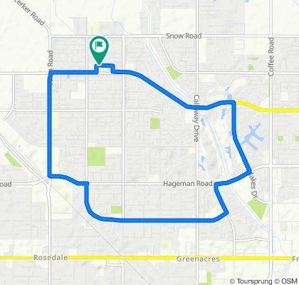 Sporty route in Bakersfield