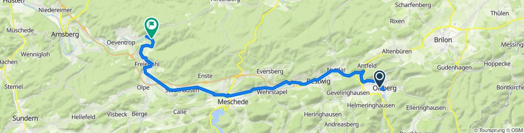 Relaxed route in Arnsberg