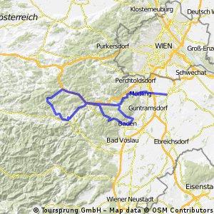 Mödling - viele Berge und wieder Mödling CLONED FROM ROUTE 303663