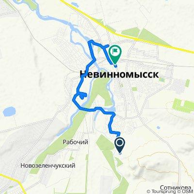 От Торговая улица 56, Невинномысск до улица Гагарина 54а, Невинномысск