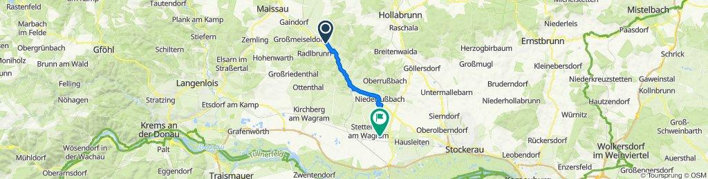 von Ziersdorf nach Eggendorf am Wagram