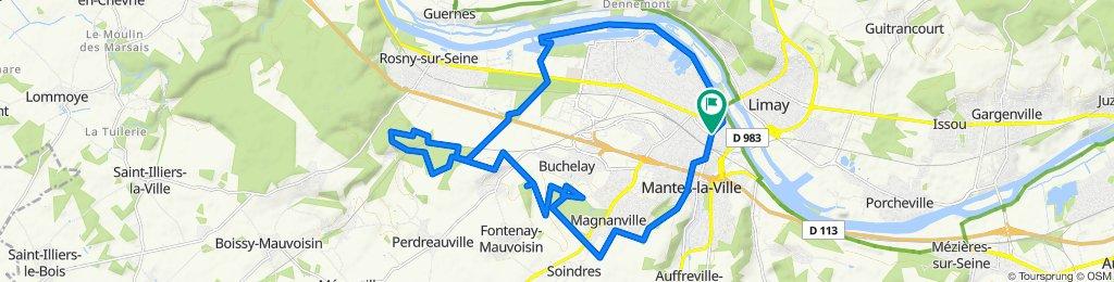 De 14 Rue du Chapeau Rouge, Mantes-la-Jolie à 14 Rue du Chapeau Rouge, Mantes-la-Jolie