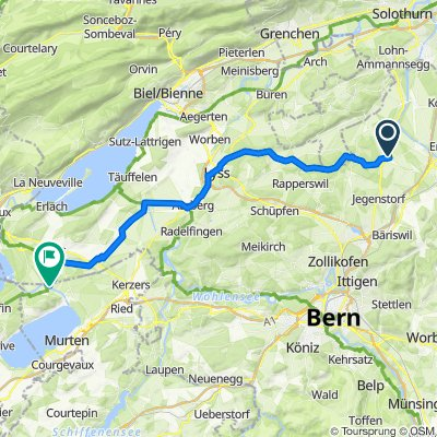 Route von Bahnhofmatte 10, Fraubrunnen