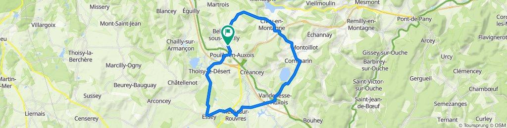De Route de Bellenot, Pouilly-en-Auxois à 8 Rue du Larrey de la Roche, Pouilly-en-Auxois