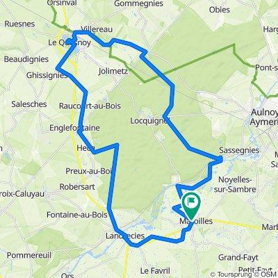 Maroilles Mormal Quesnoy 53 km