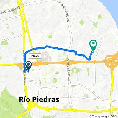 Restful route in San Juan