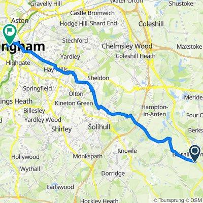 11 Alder Lane, Coventry to 6 Cherry Street, Birmingham