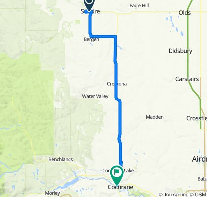Moderate route in Sundre