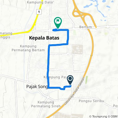 Relaxed route in Kampung Tok Bedur