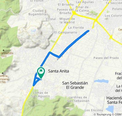 Calle Cedro 22, Tlajomulco de Zúñiga to Calle Cedro 20–22, Tlajomulco de Zúñiga