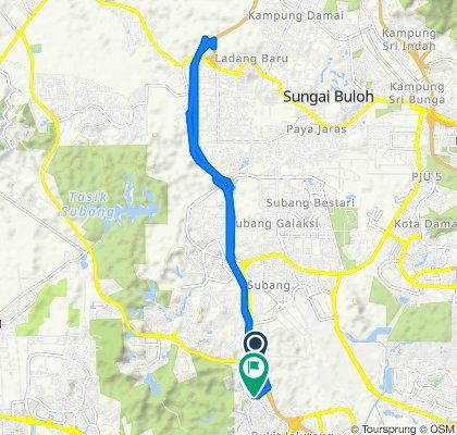 Jalan Jeriji U8/75a 2, Shah Alam to Jalan Pelapik U8/46 10, Shah Alam