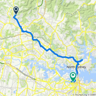 Jenner Road 84, Dural to Darling Drive 287, Sydney
