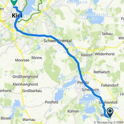 Breiteneiche 1, Wahlstorf nach Knooper Weg 143, Kiel