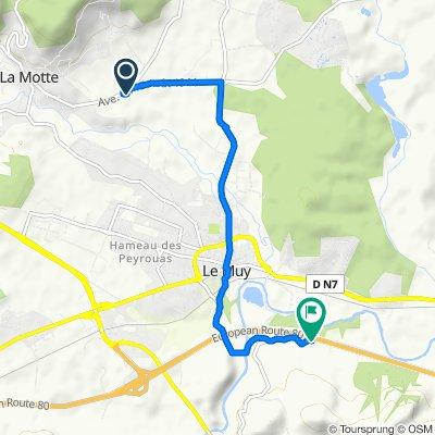 Blistering ride in Roquebrune-sur-Argens