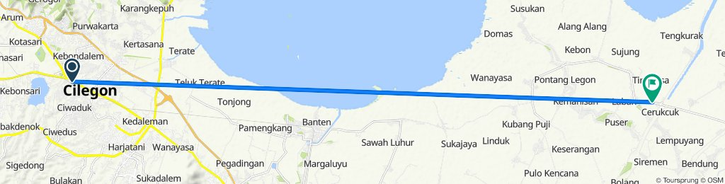 Jalan Perjuangan 40, Kecamatan Purwakarta to Jalan Sultan Agung Tirtayasa 196