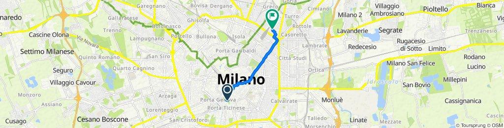 Restful route in Milano