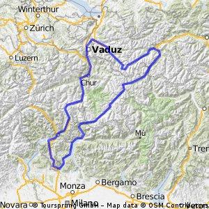 Landeck - Lugano - Feldkirch - Silvretta - Landeck
