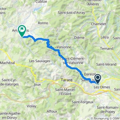 De Chemin des Étangs, Saint-Loup à 6 Impasse des Coteaux du Paradis, Amplepuis