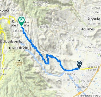 Moderate route in Santa Lucía de Tirajana