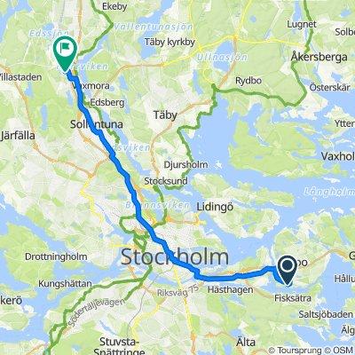 Spanarvägen 1, Stockholm to Hedemoravägen, Sollentuna