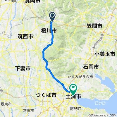 Slow ride in Tsuchiura-Shi