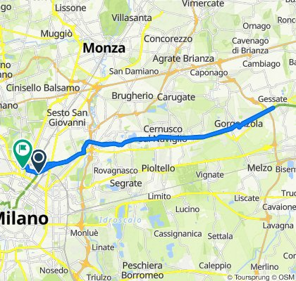 Supersonic route in Milano