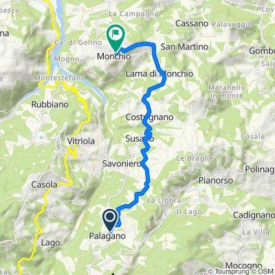 Da Via 23 Dicembre 34/A, Palagano a Via Le Macchie 5/A, Palagano