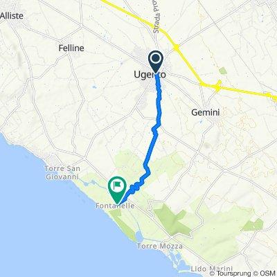 Langsame Fahrt in Ugento