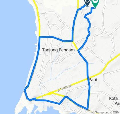 Jalan Johan, Tanjung Pandan to Jalan Johan, Tanjung Pandan
