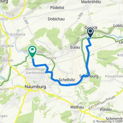 Oeblitzschleuse 55, Schönburg nach Blütengrund 4, Naumburg (Saale)
