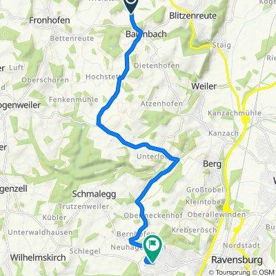 K7965, Fronreute nach Hugo-Herrmann-Straße 1, Ravensburg