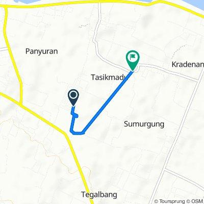 Jalan Cemara Raya 16, Kecamatan Palang to Jalan Masjid, Kecamatan Palang
