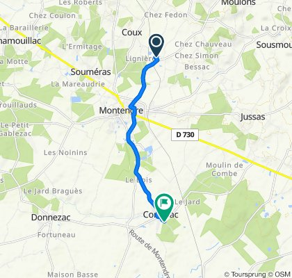 De 12 Rue du Clos de la Mauve, Montendre à 1 Route du Grand Potet, Corignac