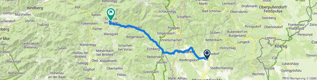 Hotterweg 8, Oberschützen nach Kirchenviertel 3, Sankt Jakob im Walde